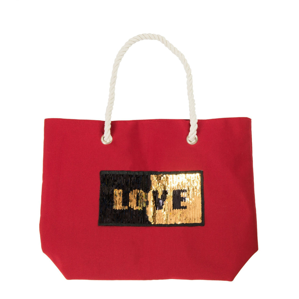 "Bolso de playa ""Love"" Rojo"