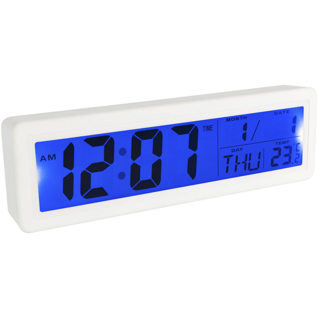 Reloj despertador digital 'Stand' Blanco