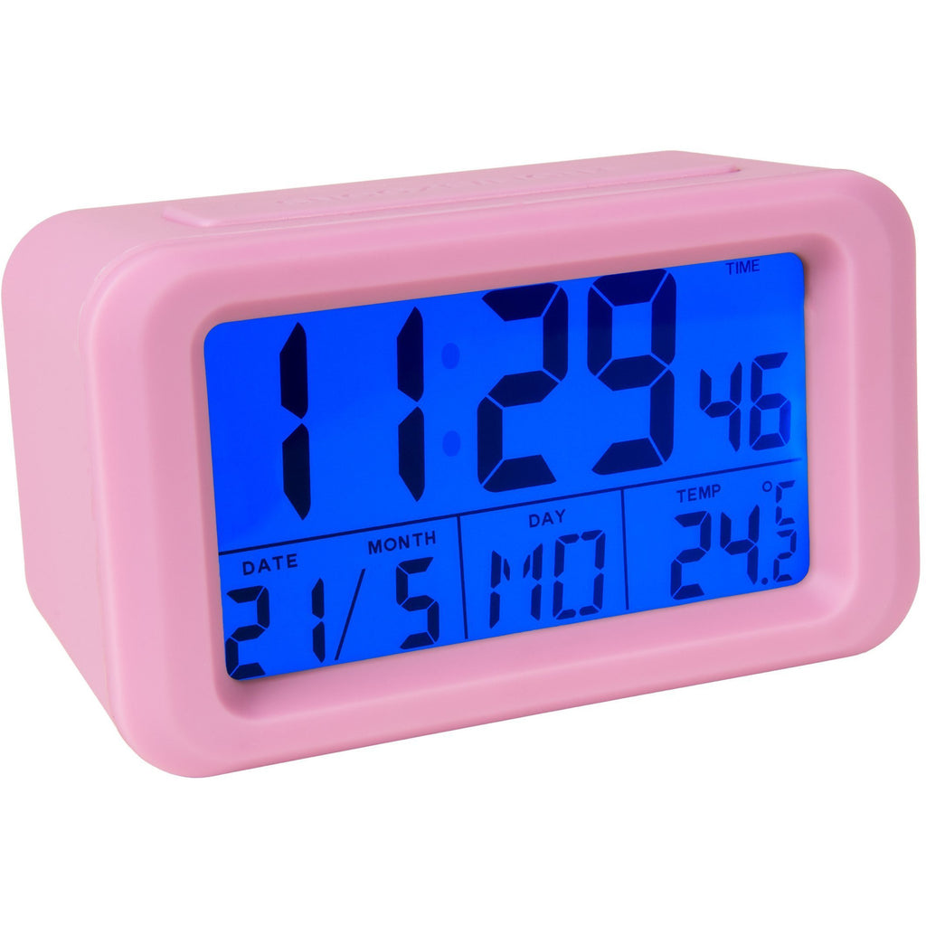 Reloj despertador digital Rosa