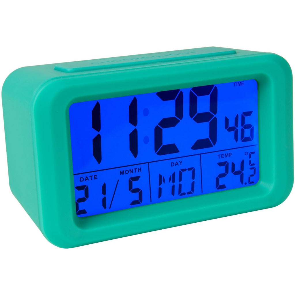 Reloj despertador digital Menta