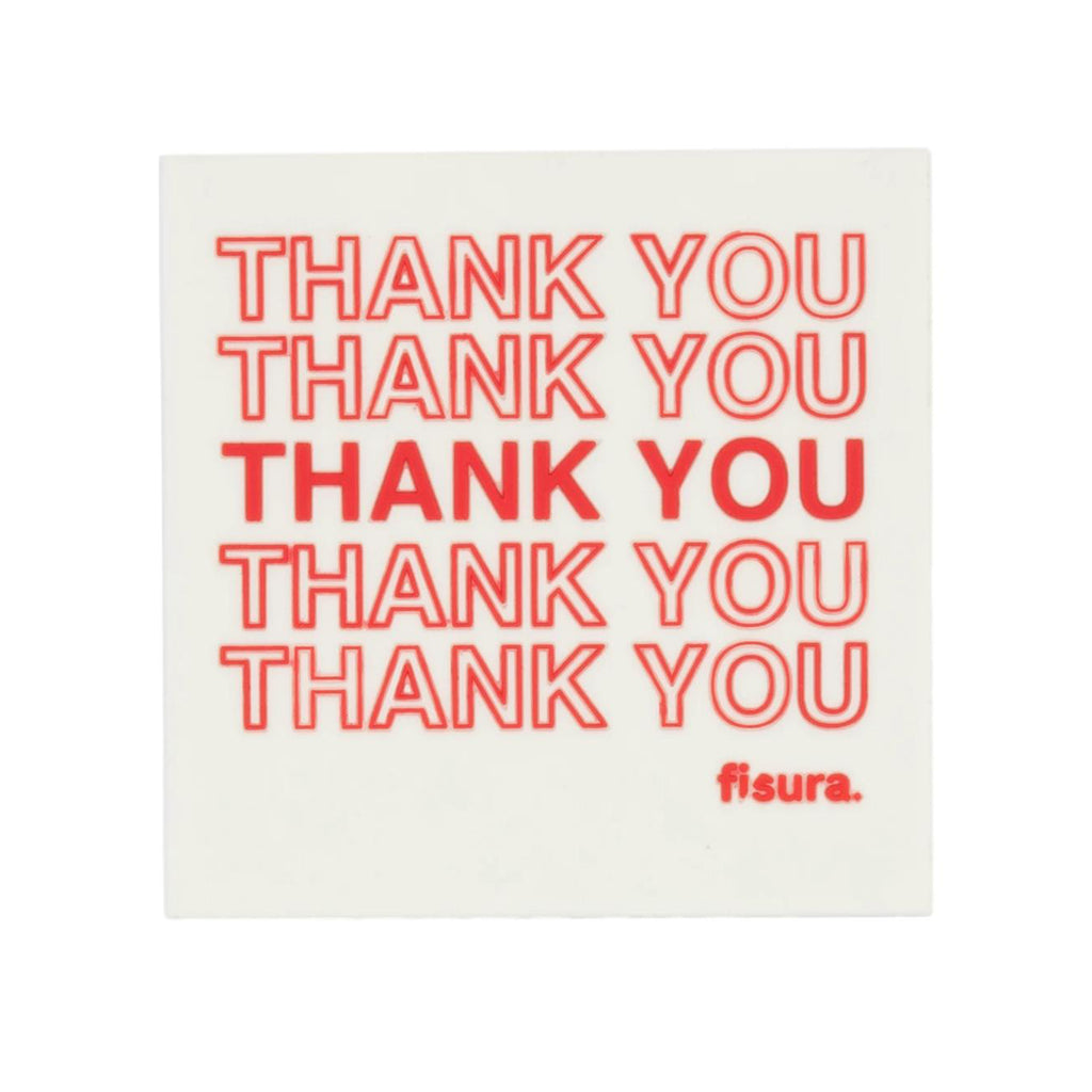 "Posavasos magnéticos PVC ""Thank You"" (Set de 4)"