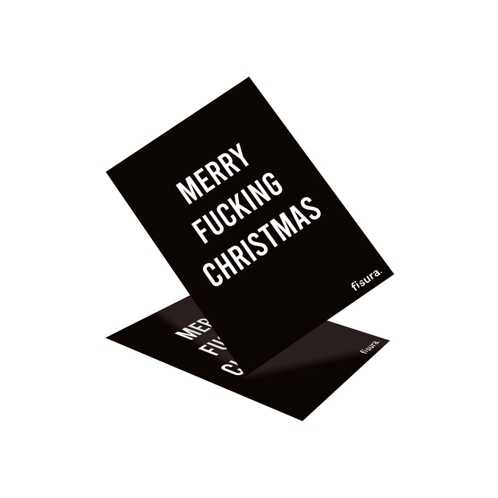 "Postal ""Merry Fucking Christmas"" Negro"