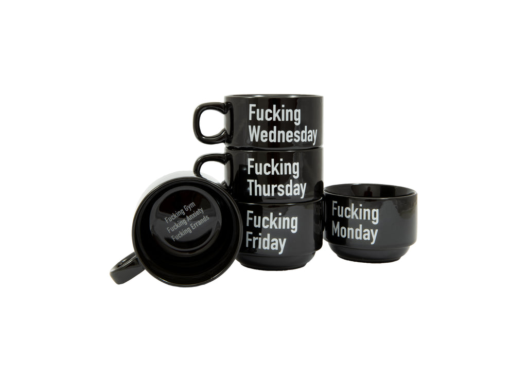 "Tazas ""Fucking Week""  ENG (Set de 5)"