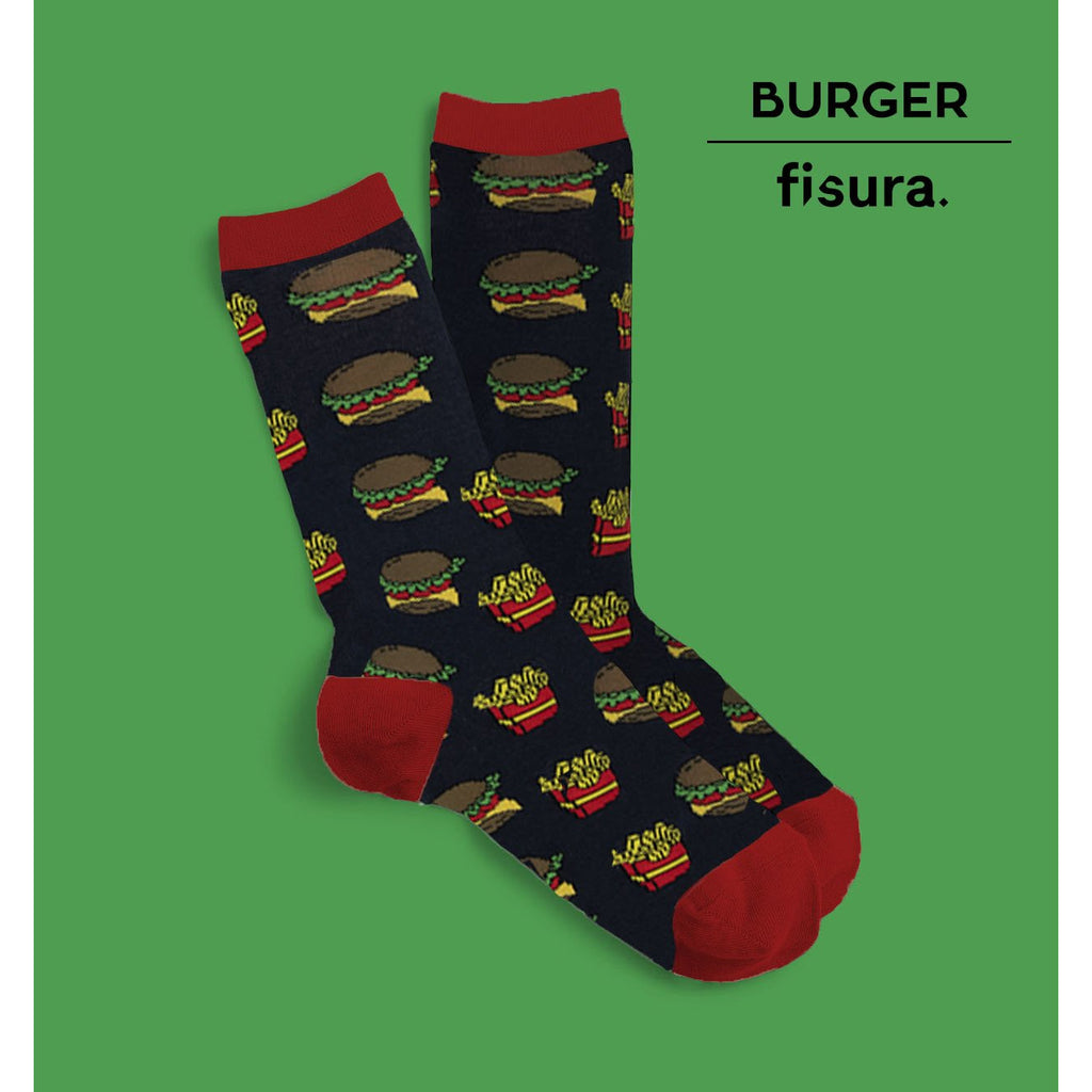 "Par de calcetines chico ""Burguers & Fries"""