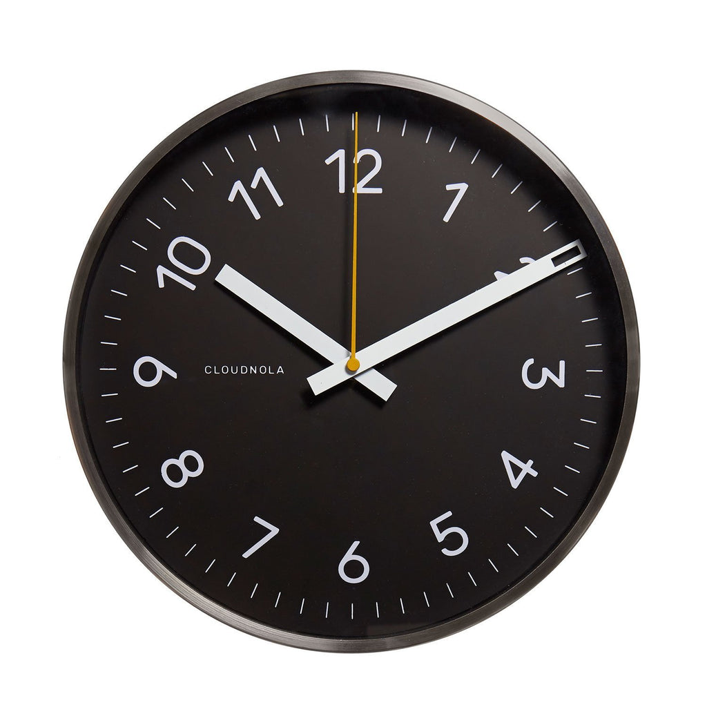 Reloj Now Black Steel 30 CM