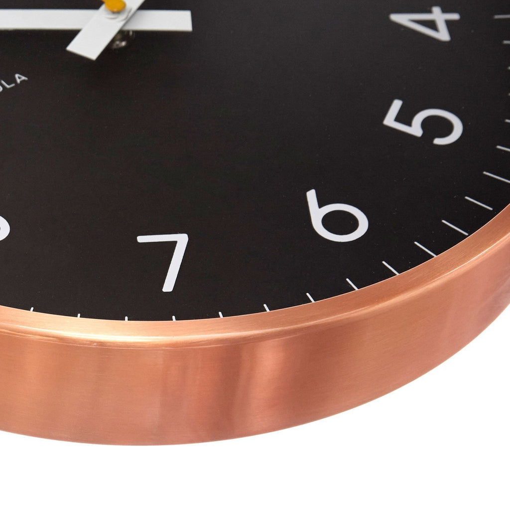 Reloj Now Black Copper 30 CM