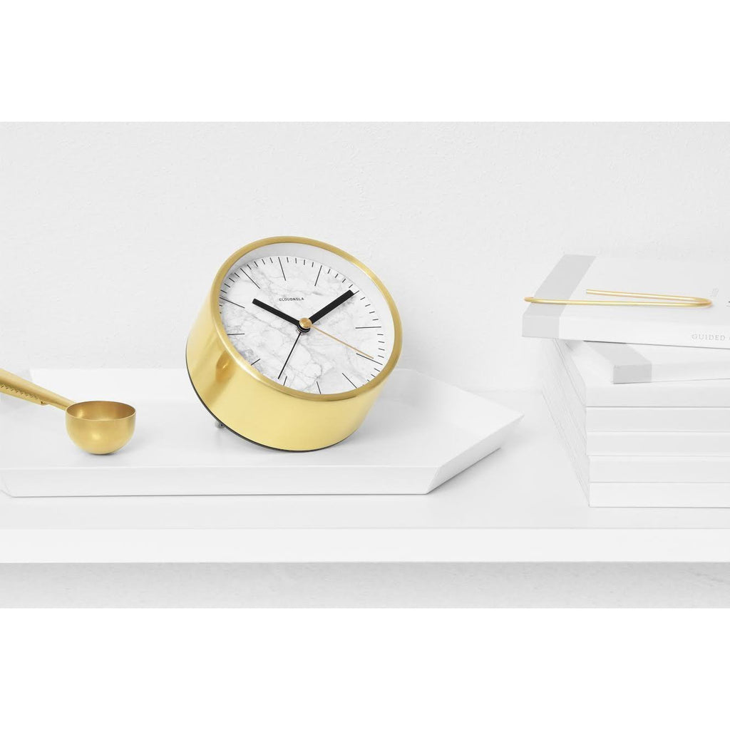 Reloj despertador Structure JR Marble White