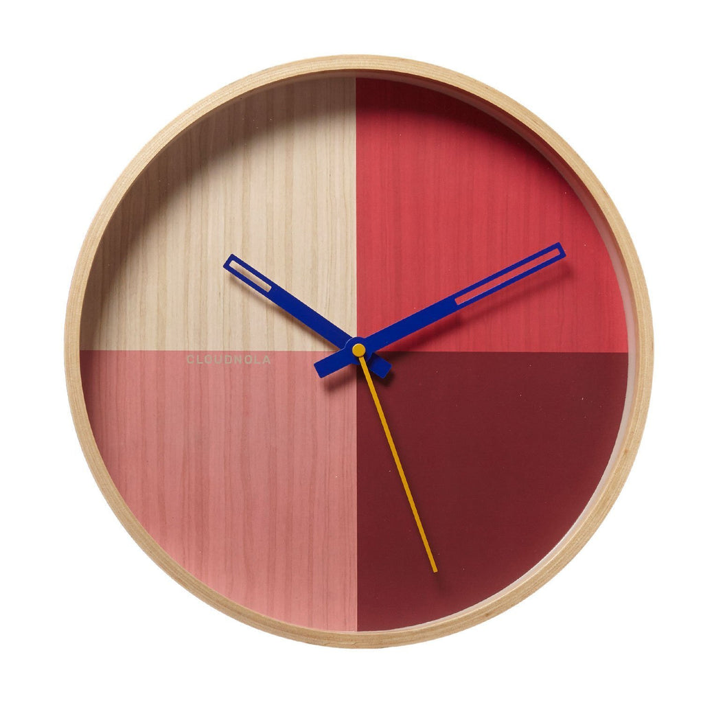 Reloj Flor Red Wood 30 CM