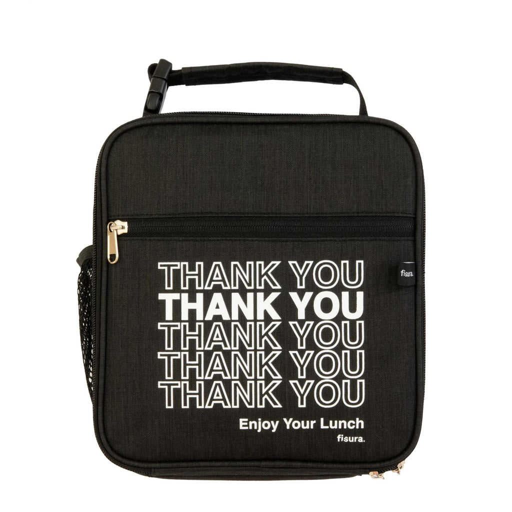 "Bolsa porta tupper - Patrón ""Thank you"""
