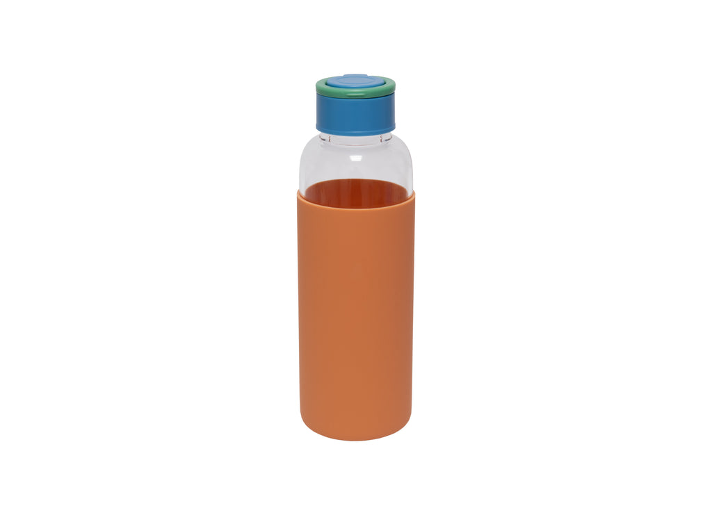Botella de agua de cristal Eco Friendly Naranja