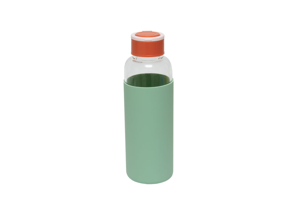 Botella de agua de cristal Eco Friendly Menta
