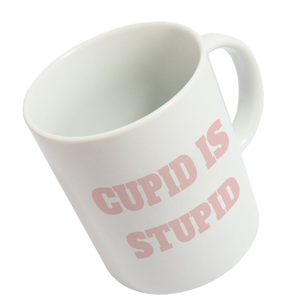 "Taza ""Cupid is Stupid"""