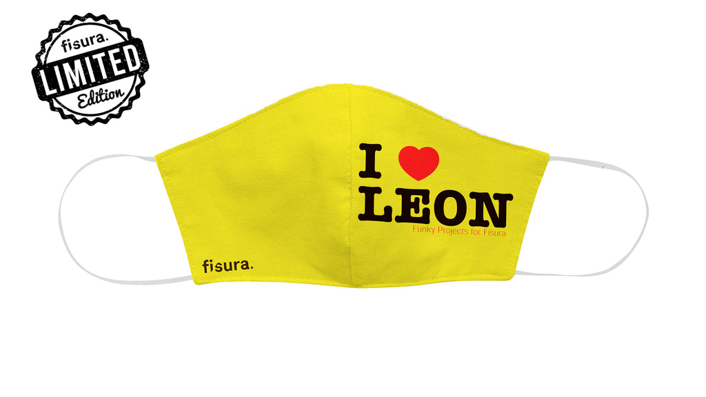 "Mascarilla adulto ""I Love Leon"""