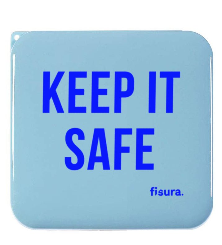 "Funda rígida porta mascarillas ""Keep it safe"" Azul"