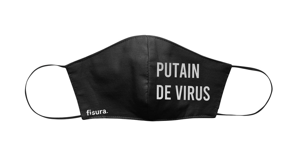 "Mascarilla adulto ""Putain de Virus"""