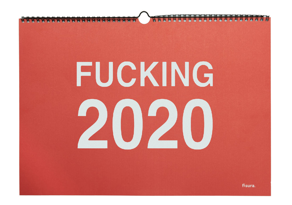 "Calendario de pared ""Fucking 2020"" Inglés"