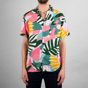 Dedicated Collage Leaves Short Sleeve Shirt
