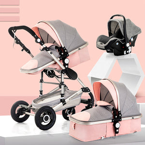 Foreign trade hot-selling baby stroller can sit reclining foldable shock absorber baby stroller high landscape portable child stroller - Trend BoxForeign trade hot-selling baby stroller can sit reclining foldable shock absorber baby stroller high landscape portable child stroller Foreign trade hot-selling baby stroller can sit reclining foldable shock absorber baby stroller high landscape portable child stroller