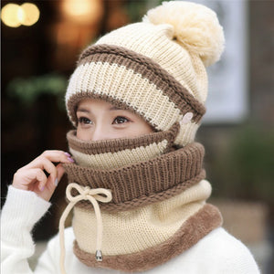 FOR WOMEN ON THE GO Windproof Winter Wool Hat With Mask - Trend BoxWindproof Winter Wool Hat With Mask FOR WOMEN ON THE GO FOR WOMEN ON THE GO Windproof Winter Wool Hat With Mask