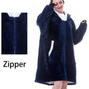 New autumn and winter 2020 new super large adult men and women can wear zipper flannel lazy blanket - Trend BoxNew autumn and winter 2020 new super large adult men and women can wear zipper flannel lazy blanket New autumn and winter 2020 new super large adult men and women can wear zipper flannel lazy blanket