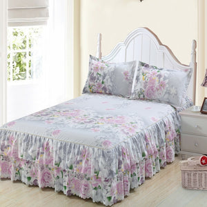 Classic Double Layer Skirt Bedding Set Flower Printing Bed Shirts Bed Linen 3pcs/set Pastoral Bed Sheet Home textile Pillowcase - Trend BoxClassic Double Layer Skirt Bedding Set Flower Printing Bed Shirts Bed Linen 3pcs/set Pastoral Bed Sheet Home textile Pillowcase Classic Double Layer Skirt Bedding Set Flower Printing Bed Shirts Bed Linen 3pcs/set Pastoral Bed Sheet Home textile Pillowcase