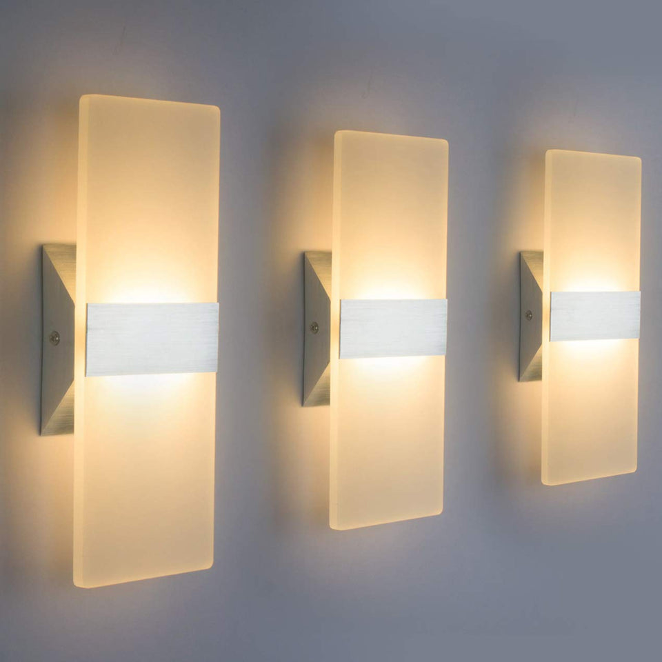 Modern LED Wall Sconce Lighting Fixture Lamps (3 Pack) - Trend BoxModern LED Wall Sconce Lighting Fixture Lamps (3 Pack) Modern LED Wall Sconce Lighting Fixture Lamps (3 Pack)