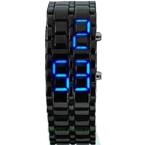 Metallic Black Lava LED Men/Lady Bracelet Wrist Watch - Trend BoxMetallic Black Lava LED Men/Lady Bracelet Wrist Watch Metallic Black Lava LED Men/Lady Bracelet Wrist Watch