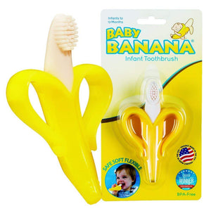 Baby Banana Infant Training Toothbrush and Teether, Yellow - Trend BoxBaby Banana Infant Training Toothbrush and Teether, Yellow Baby Banana Infant Training Toothbrush and Teether, Yellow