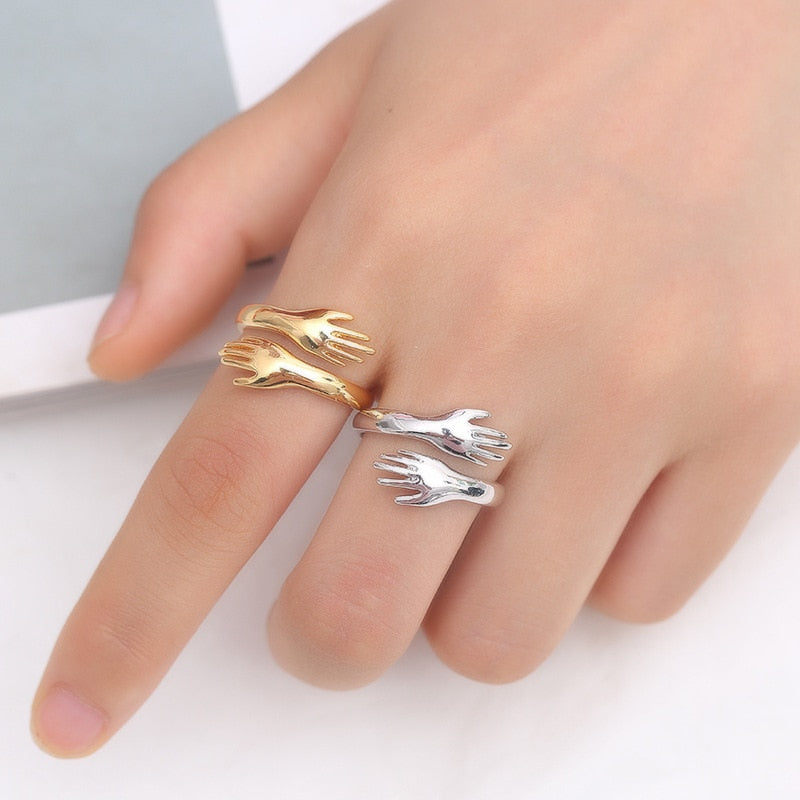Romantic Hand With Love Hug Rings - Trend BoxRomantic Hand With Love Hug Rings Romantic Hand With Love Hug Rings