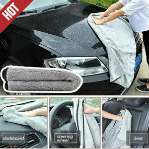 Tharv❤The Royal Plush Drying Towel Premium Plush Microfiber Towel Professional Car Gray