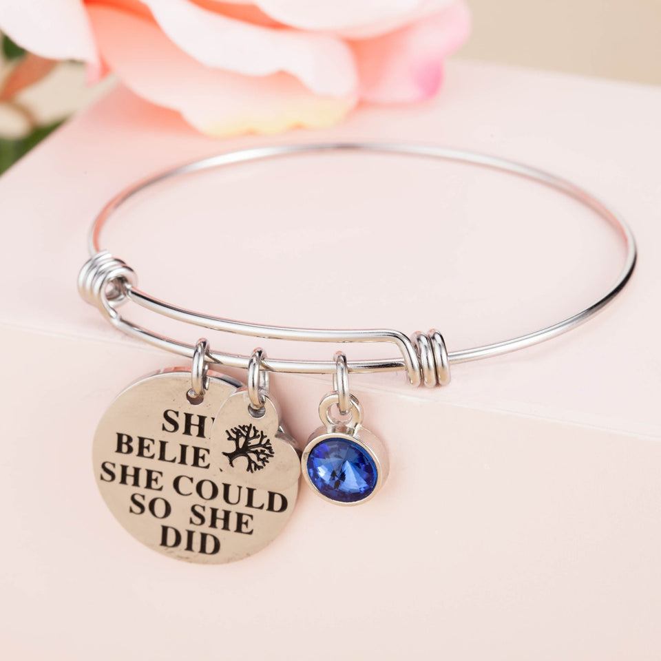 'She Believed She Could So She Did' Bracelet