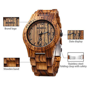 Mens Wooden Watch Analog Quartz Lightweight Handmade Wood Wrist Watch - Cheapo's DepotMens Wooden Watch Analog Quartz Lightweight Handmade Wood Wrist Watch Mens Wooden Watch Analog Quartz Lightweight Handmade Wood Wrist Watch