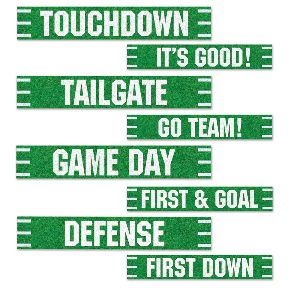 Football Street Signs Cutouts, 4 by 24-Inch, Green/White - Trend BoxFootball Street Signs Cutouts, 4 by 24-Inch, Green/White Football Street Signs Cutouts, 4 by 24-Inch, Green/White
