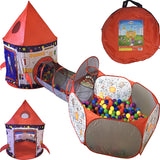 3pc Rocket Ship Astronaut Kids Play Tent, Tunnel, & Ball Pit with Basketball Hoop - Trend Box3pc Rocket Ship Astronaut Kids Play Tent, Tunnel, & Ball Pit with Basketball Hoop 3pc Rocket Ship Astronaut Kids Play Tent, Tunnel, & Ball Pit with Basketball Hoop
