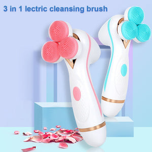 3 Heads Sonic Facial Cleansing Silicone Face Wash Brush - Trend Box3 Heads Sonic Facial Cleansing Silicone Face Wash Brush 3 Heads Sonic Facial Cleansing Silicone Face Wash Brush