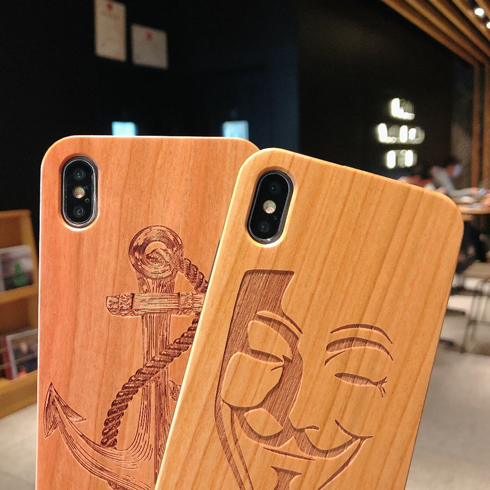 Laser Engraving Real Wood Cell Phone Case for iPhone XS MAX XR 7 8PLUS X - Trend BoxLaser Engraving Real Wood Cell Phone Case for iPhone XS MAX XR 7 8PLUS X Laser Engraving Real Wood Cell Phone Case for iPhone XS MAX XR 7 8PLUS X