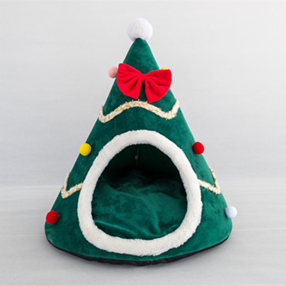 Christmas Tree Shape Pet House Soft Warm Nest Bed - Trend BoxChristmas Tree Shape Pet House Soft Warm Nest Bed Christmas Tree Shape Pet House Soft Warm Nest Bed