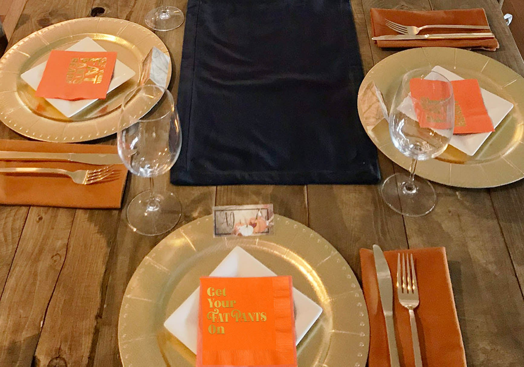 navy and orange thanksgiving