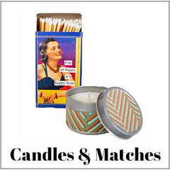 vintage candles and matches