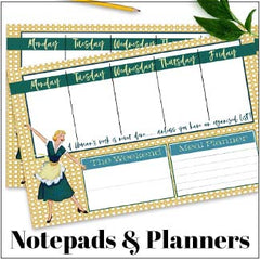 vintage notepads and planners
