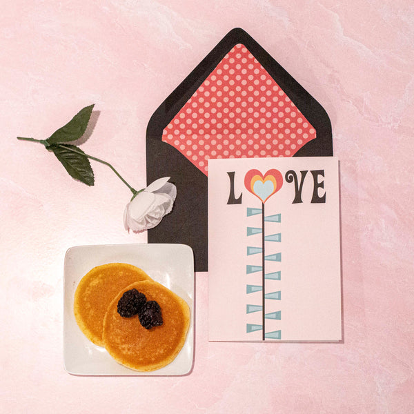 Love Flower Valentine Card A7 - ModLoungePaperCompany