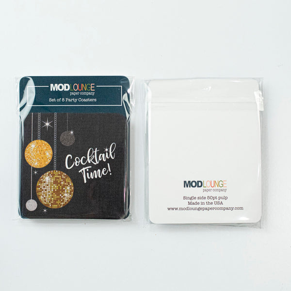 Disco Ball Cocktail Coasters - ModLoungePaperCompany
