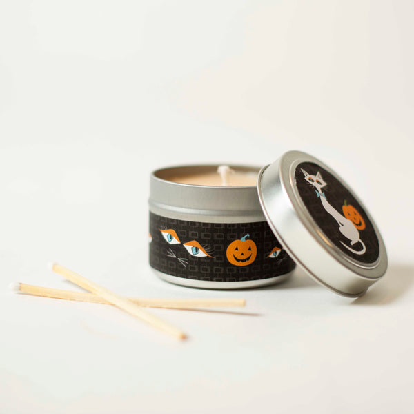 White Cat Travel Candle - ModLoungePaperCompany
