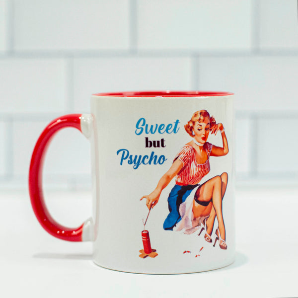 Sweet but Psycho Coffee Mug - ModLoungePaperCompany