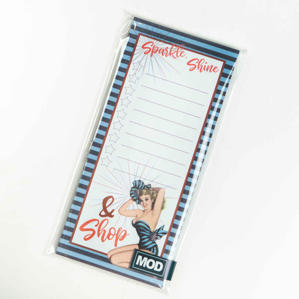 Vintage Pinup Notepad - ModLoungePaperCompany