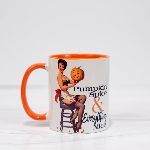Pumpkin Spice Pinup Coffee Mug