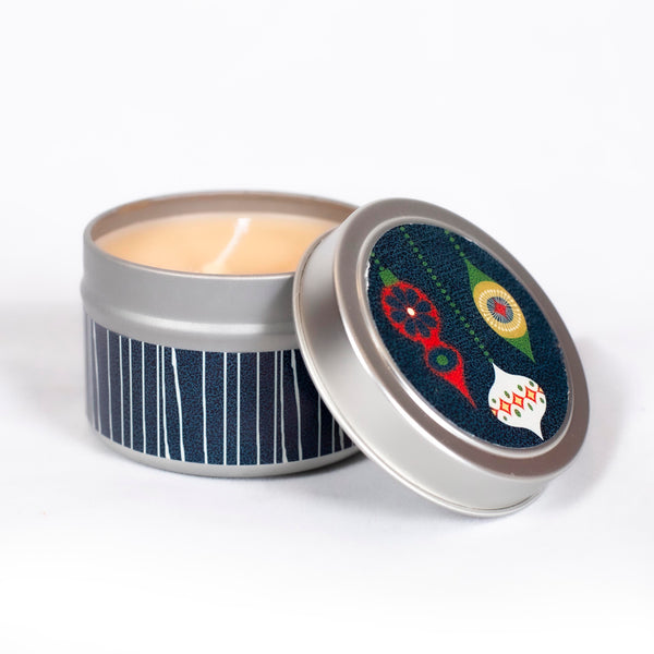 Retro Ornament Travel Candle - ModLoungePaperCompany