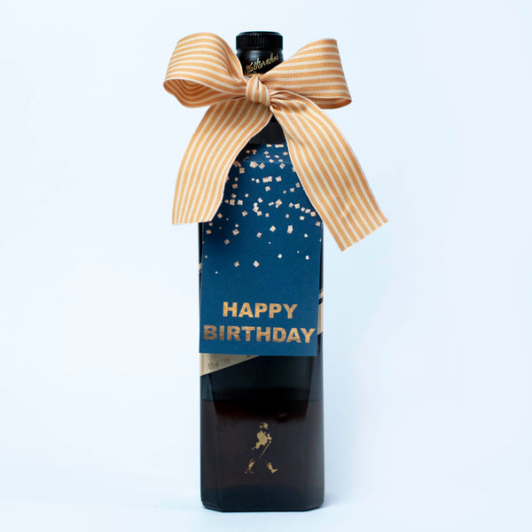 birthday wine tag