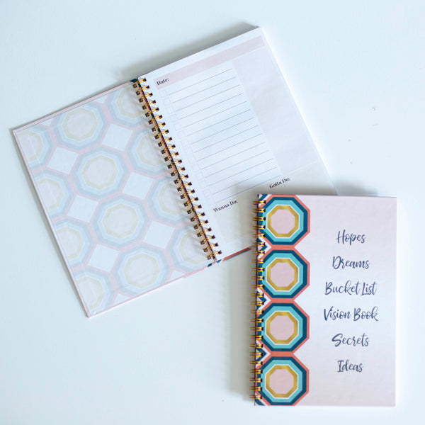 Hexagon Spiral Notebook - ModLoungePaperCompany