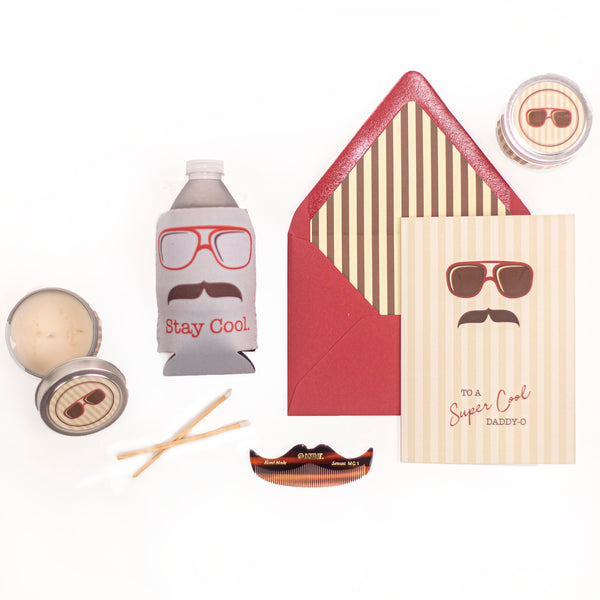 cool dad mustache gift set
